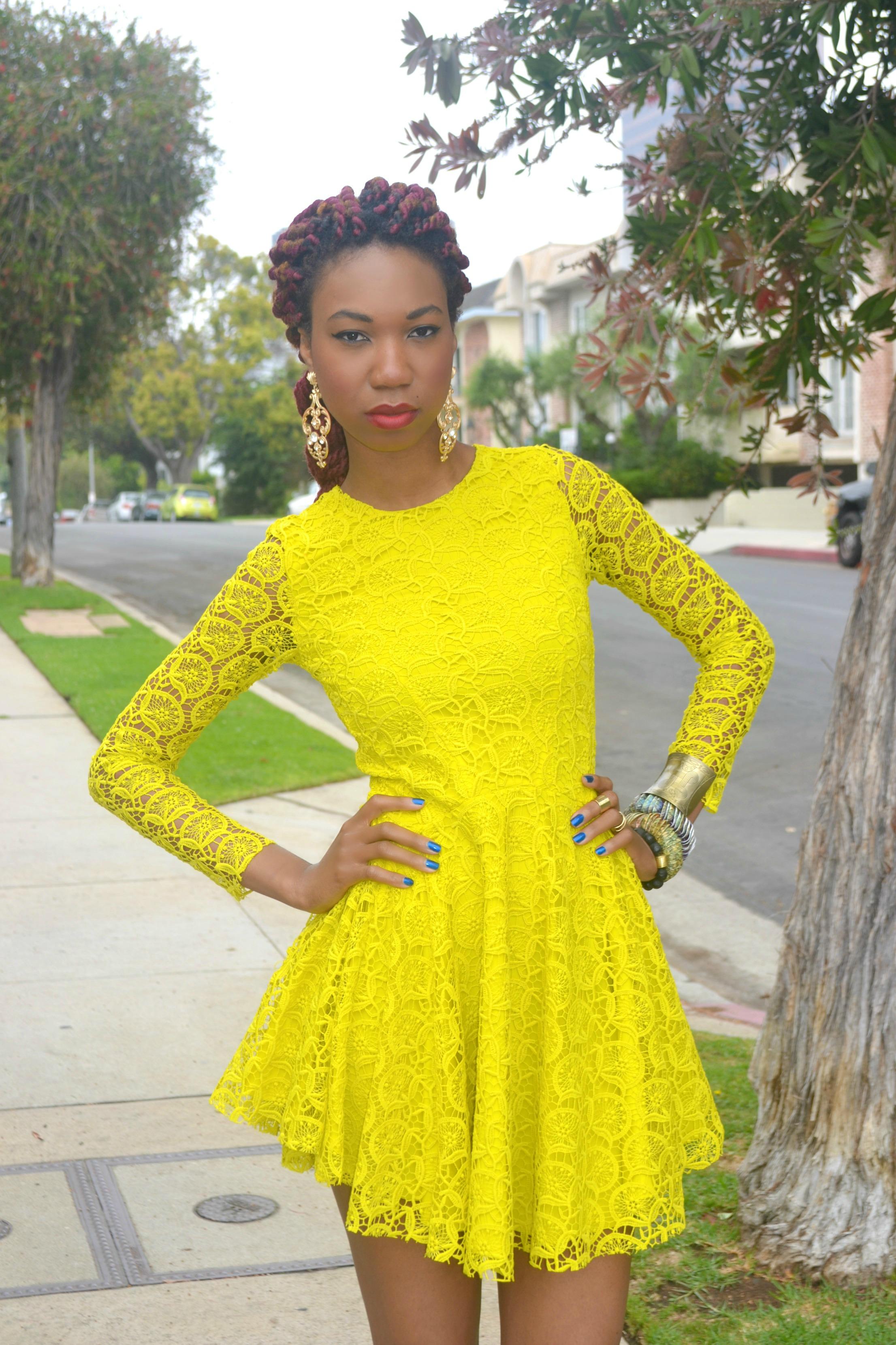 H&m Circle Lace Dress