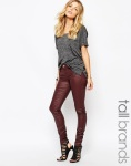Coated slim jeans-$51